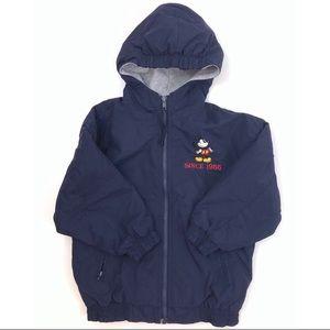 Disney Land Jacket Hooded Navy Boys Sz 5/6 G387